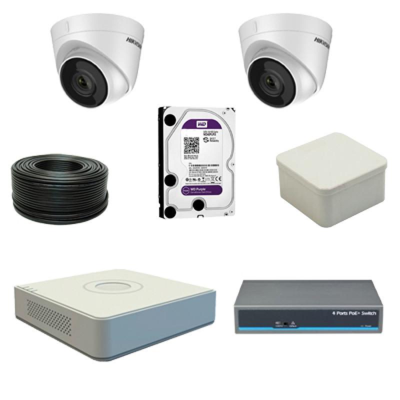 Комплект на 2 IP камеры видеонаблюдения