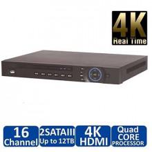 Dahua DH-NVR4216-4KS2 16-ти канальный 1U 4K сетевой видеорегистратор