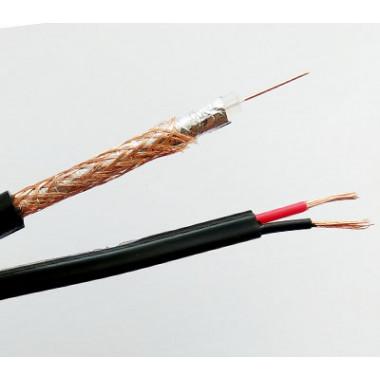 EuroSat RG-59 КБ-0062-00 комбинированный кабель для видеонаблюдения с питанием
