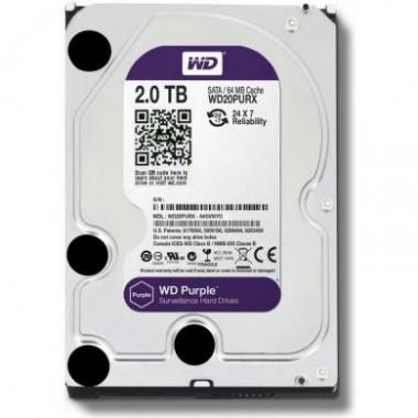 WD Purple 2TB - жесткий диск для систем видеонаблюдения