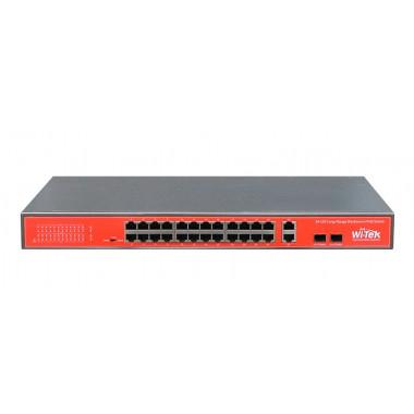 Wi-Tek WI-PS526G 24-х портовый неуправляемый POE коммутатор
