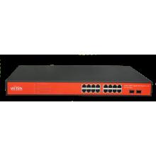 Wi-Tek WI-PS318GF 16-ти портовый POE коммутатор