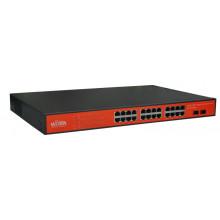 Wi-Tek  WI-PS326GF 24-х портовый POE коммутатор