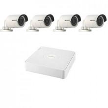 Комплект IP Hikvision - 4 уличные камеры