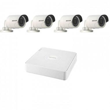 Комплект видеонаблюдения - на 4 камеры Hikvision
