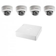 Комплект IP Hikvision - 4 купольные камеры