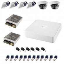 Комплект TURBO HD - 2 широкоугольные камеры + 4 уличные