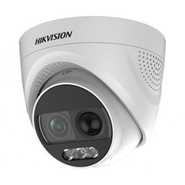 Hikvision DS-2CE72DFT-PIRXOF (2.8 мм) 2Мп ColorVu Turbo HD видеокамера с PIR датчиком и сиреной