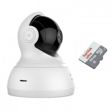 Xiaomi YI Dome Camera 360° с картой памяти 64Gb - комплект видеонаблюдения
