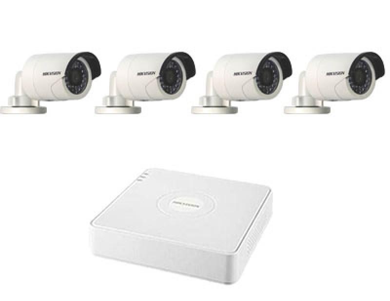 IP комплект Hikvision на 4 уличные видеокамеры